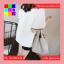 เสื้อแฟชั่น คอกลม แขนสั้น สีพื้น แต่งขอบดำ สีขาว thumbnail 9