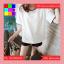 เสื้อแฟชั่น คอกลม แขนสั้น สีพื้น แต่งขอบดำ สีขาว thumbnail 6