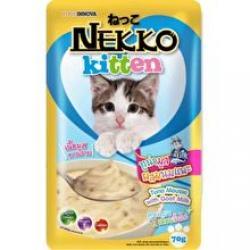 เน็กโกะ เพาซ์ ลูกแมว สูตรปลาทูน่ามูสผสมนมแพะ 1ลัง (48ซอง) ส่งฟรี