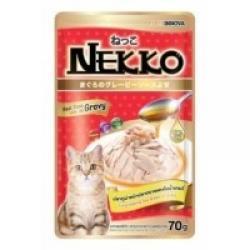 เน็กโกะ เพาซ์ สูตรปลาทูน่าหน้าปลาทรายแดงในเกรวี่ 1ลัง (48ซอง) ส่งฟรี