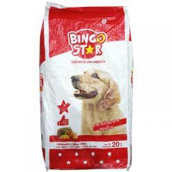 อาหารสุนัขโต บิงโกสตาร์ (Bingo Star) สูตรคลาสสิค 20 กิโลกรัม ส่งฟรี