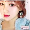 ต่างหูแฟชั่นสไตล์เกาหลี Luxury Rhinestone Charm Pearl Drop Vintage Korean Jewelry Earring