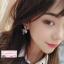 ต่างหูแฟชั่นสไตล์เกาหลี Romantic Crystal Stone Heart Love Drop Rhinestone Long Jewelry Earrings